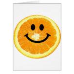 Smiley Orange Slice Card
