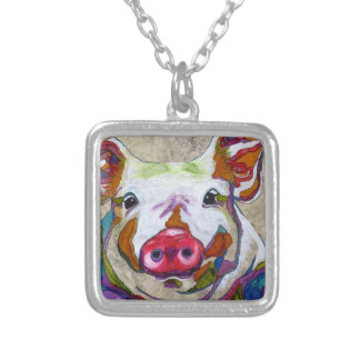 Smiley Piggy Necklace