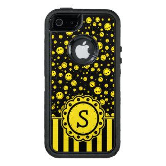 Smiley Polka Dot Monogram OtterBox iPhone 5/5s/SE Case
