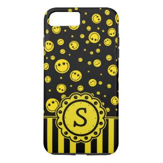 Smiley PolkaDot Monogram iPhone 8 Plus/7 Plus Case