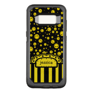 Smiley PolkaDot Name Template OtterBox Commuter Samsung Galaxy S8 Case