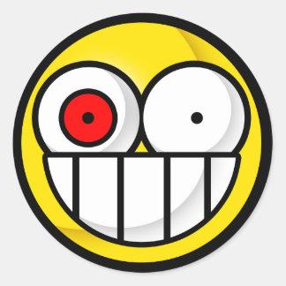 Smiley Psychotic Sticker