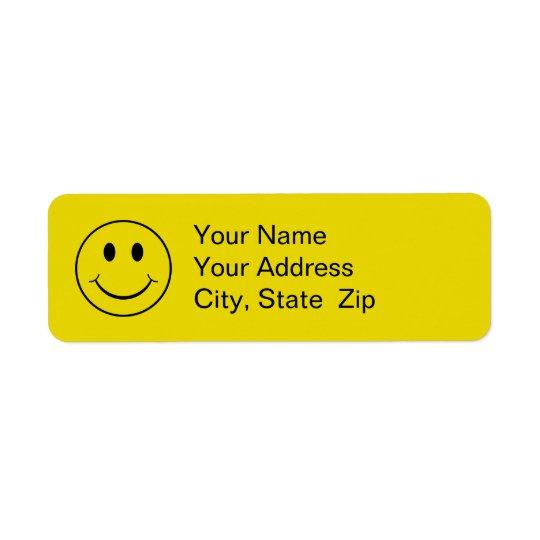 Smiley Return Address Label