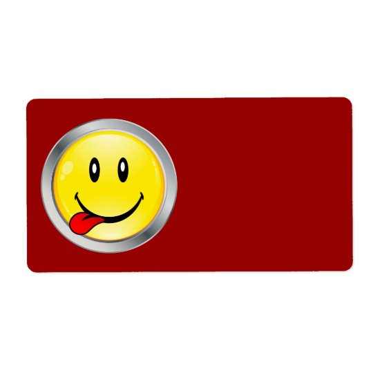 Smiley Shipping Label