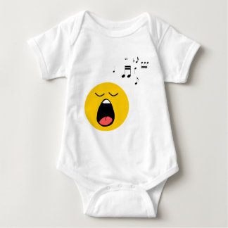 Smiley singer baby bodysuit