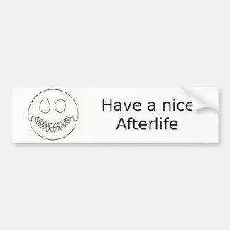 Smiley Skull Bumper Sticker