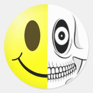 Smiley Skull Sticker