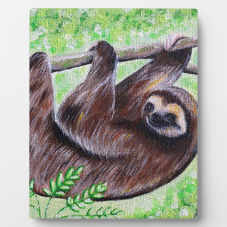 Smiley Sloth Painting Plaque