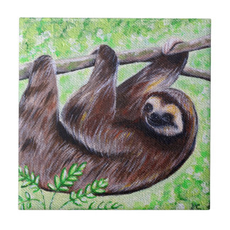 Smiley Sloth Painting Tile
