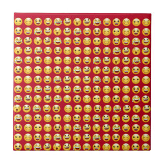 smiley small square tile
