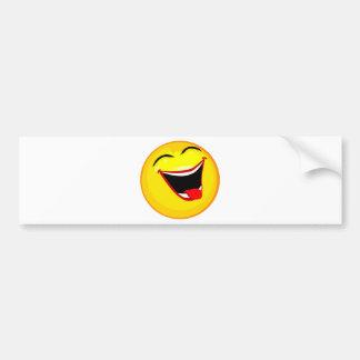 smiley-smilies-happy bumper sticker