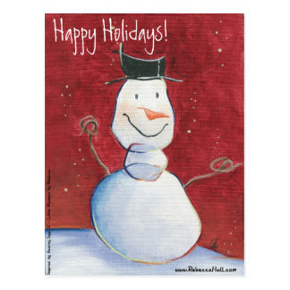 Smiley Snowman Holiday Postcards