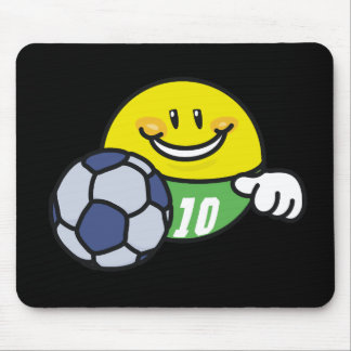 Smiley Soccer T shirts and Gifts Mouse Pad