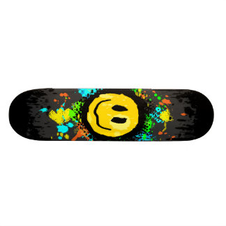 Smiley Splatter Skateboard