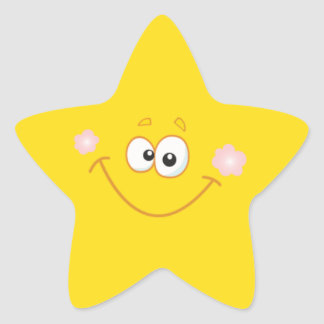 Smiley star star sticker