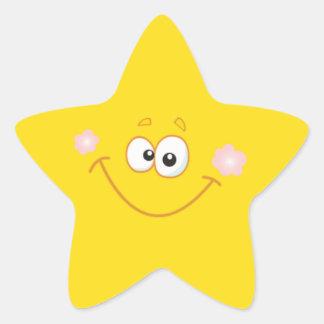 Smiley star star sticker