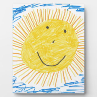 SMILEY SUN KIDS DRAWING DISPLAY PLAQUES