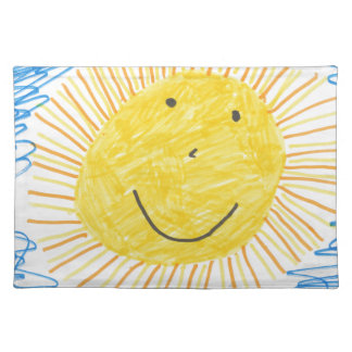 SMILEY SUN KIDS DRAWING PLACEMAT