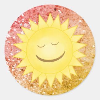 Smiley Sun: Rainbow Glitter Stickers 2