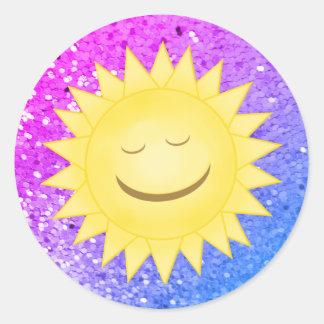 Smiley Sun: Rainbow Glitter Stickers 3