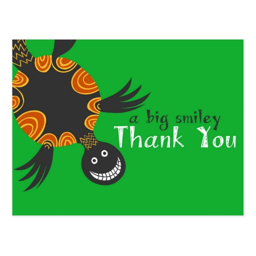 Smiley Tortoise Thank You Cards Postcards