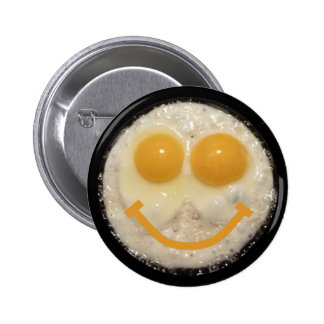 Smiley Two Egg Face Pinback Buttons