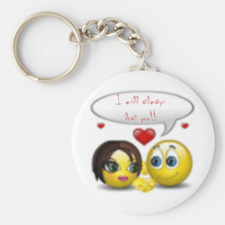 smileys, I will always love you!! Basic Round Button Key Ring