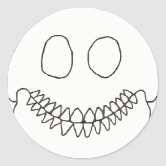 SmileySkull Round Sticker