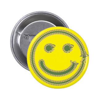 smilie 6 cm round badge