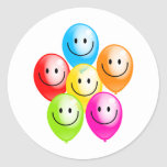 Smilie Balloons Round Sticker