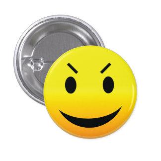 Smilie Face Evil 3 Cm Round Badge
