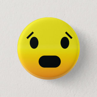 Smilie Face Scared 3 Cm Round Badge
