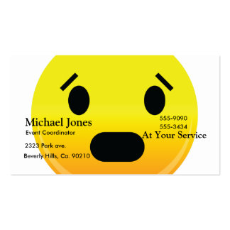 Smilie Face Scared Business Card Templates