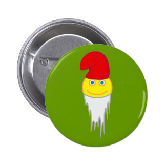 smilie garden gnome guards of gnomes 6 cm round badge