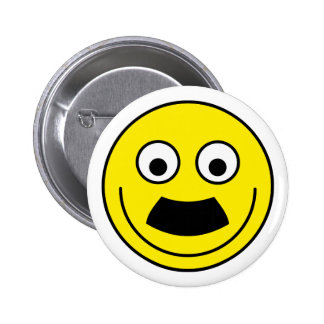 Smilie moustache smiley moustache 6 cm round badge