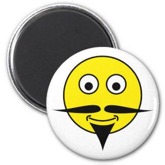 Smilie moustache smiley moustache refrigerator magnet
