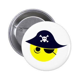 Smilie pirate smiley pirate 6 cm round badge