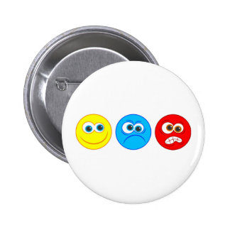 Smilies 6 Cm Round Badge