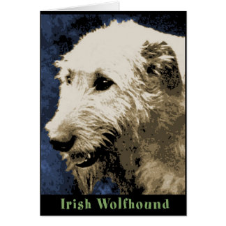 Smilin' - Irish Wolfhound Greeting Card