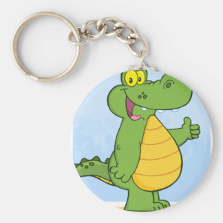 Smiling Alligator Or Crocodile Key Ring