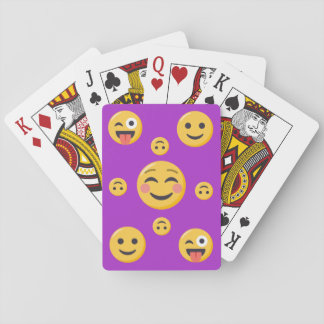 Smiling and Funny Emoji Faces Playing Cards