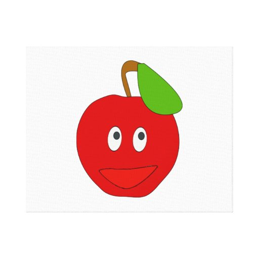 Smiling Apple Gallery Wrap Canvas