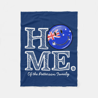 Smiling Australian Flag Housewarming Fleece Blanket