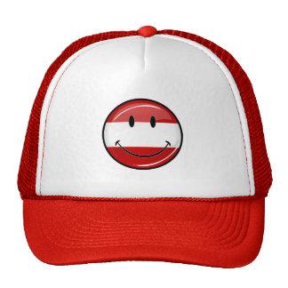 Smiling Austrian Flag Cap