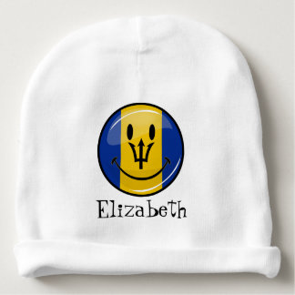Smiling Barbados Flag Baby Beanie