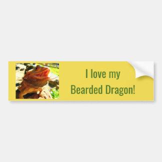 Smiling Bearded Dragon Bumper Sticker