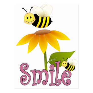 Smiling Bee Postcard
