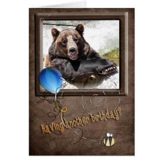 Smiling Birthday Bear Card