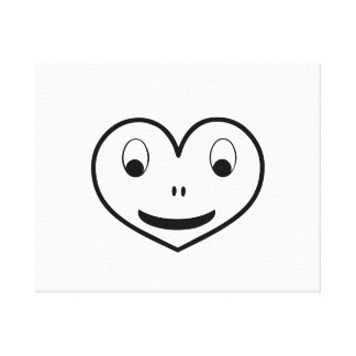 Smiling Black Heart Gallery Wrap Canvas