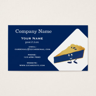 Smiling Blueberry Pie Business Card